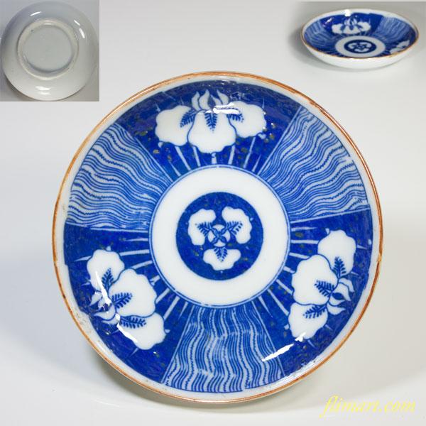 印判手小皿菖蒲W3435