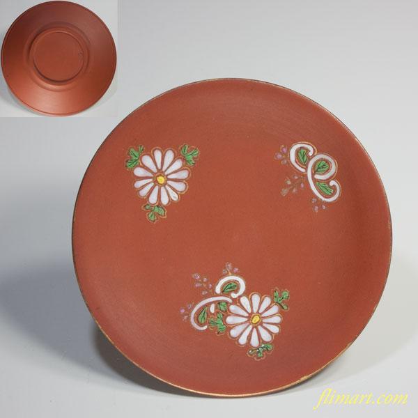 朱泥菊桐紋小皿