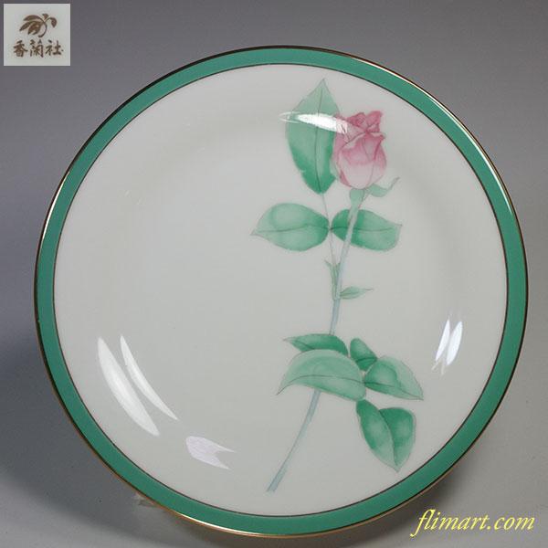 香蘭社ブライトローズ薔薇17cmプレートW5084