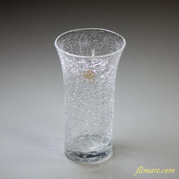 たち吉雪あかり一口ビールガラスコップ