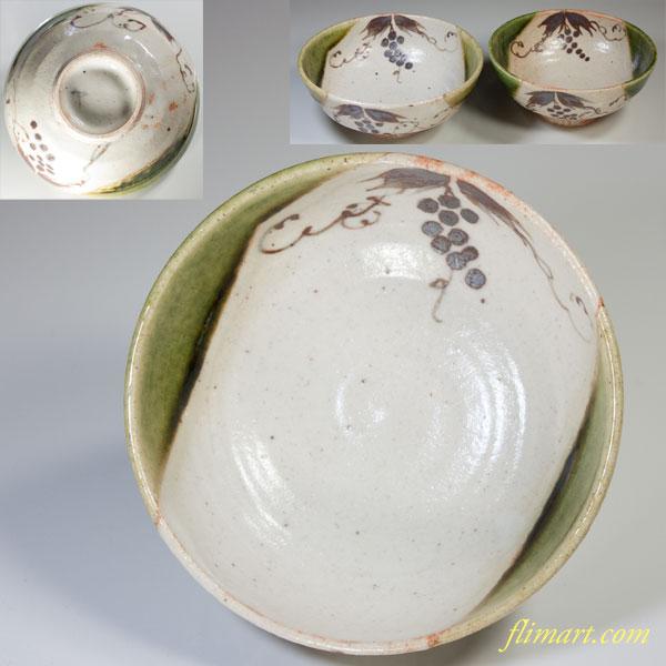 織部夫婦茶碗