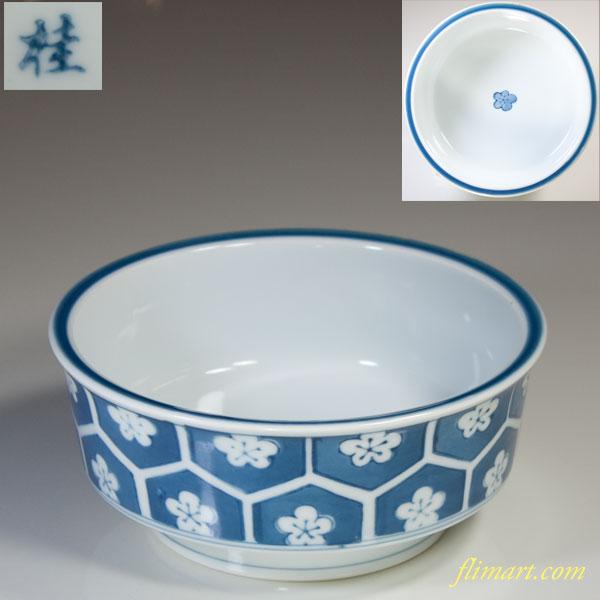 桂梅紋五寸鉢