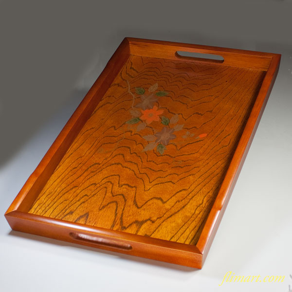 会津塗木製長盆W3532