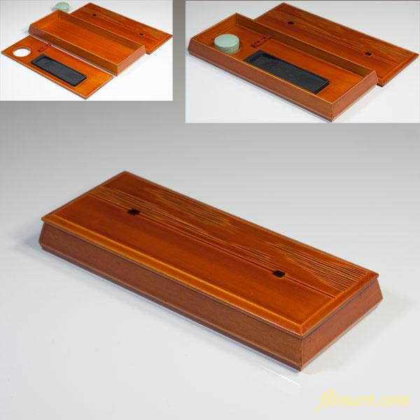 春慶塗硯箱W3565