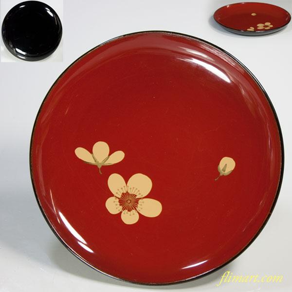 木製漆器梅紋銘々皿