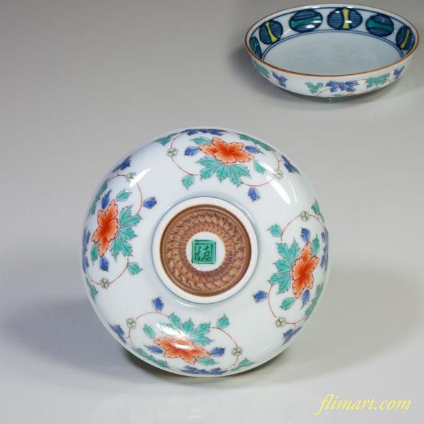 赤絵豆皿W3613