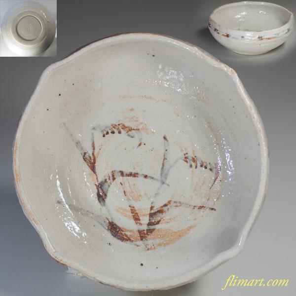 嘉右衛門造志野菓子鉢