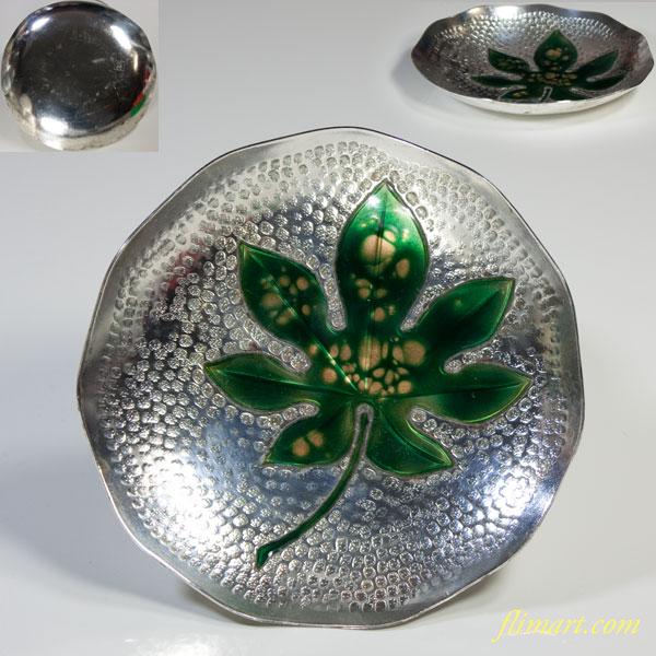 純銅七宝紅葉銘々皿