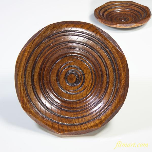 四国彫木製茶托