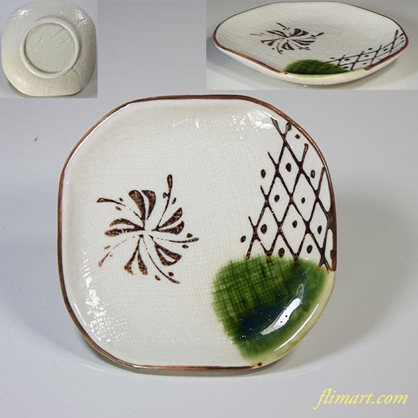 織部豆皿五枚セットW3745