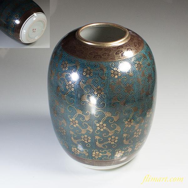 九谷焼栄峰花瓶