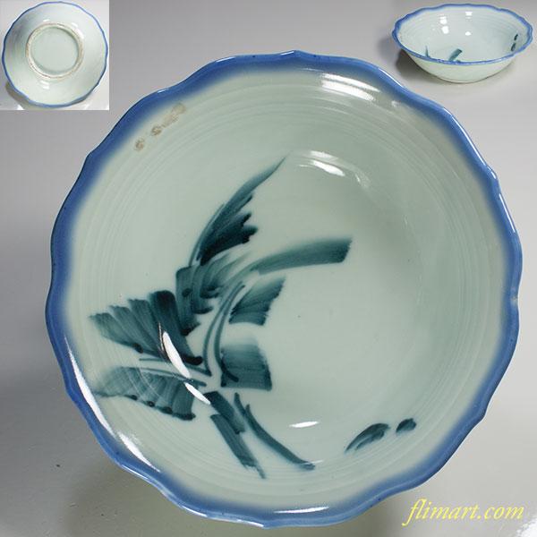 青白磁七寸鉢W3743