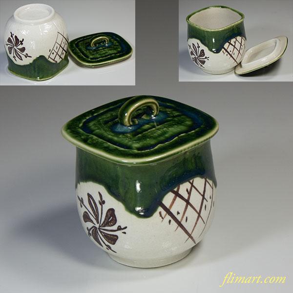 織部蓋付茶碗蒸しW3750