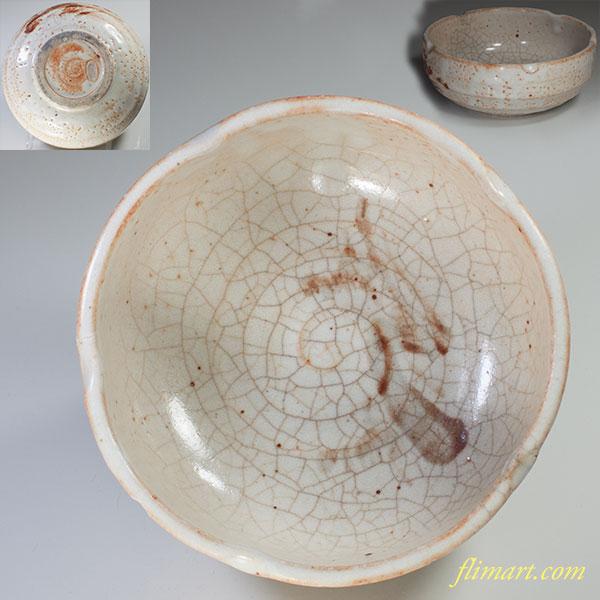 志野菓子鉢W3797