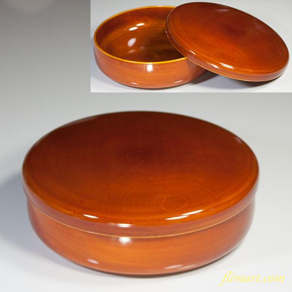 春慶塗蓋付菓子器W3828