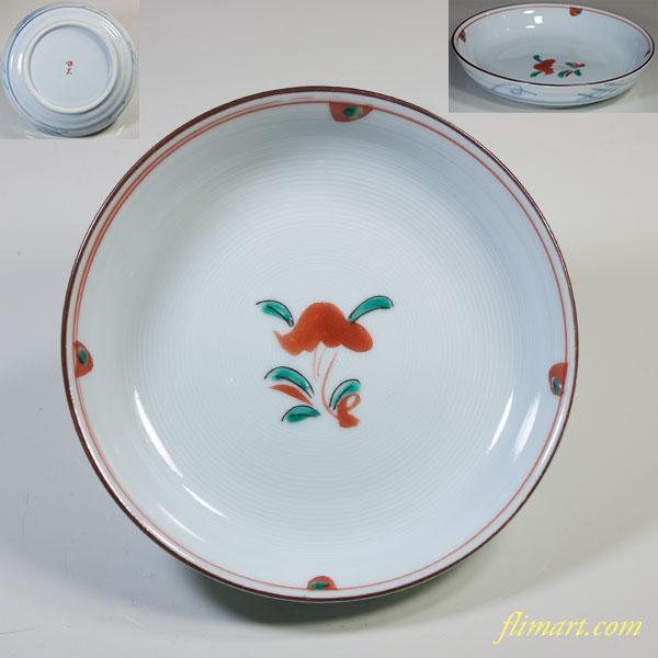 赤絵胡窯小皿五枚セット