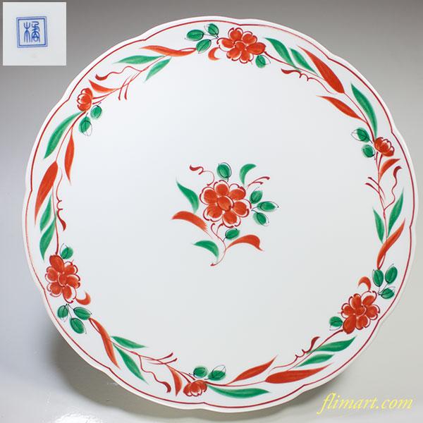たち吉赤絵盛皿W3917