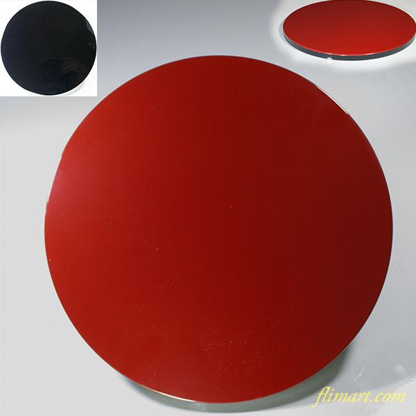木製漆器丸盆W3992