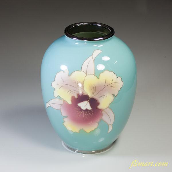 富士七宝陶器カトレア花瓶