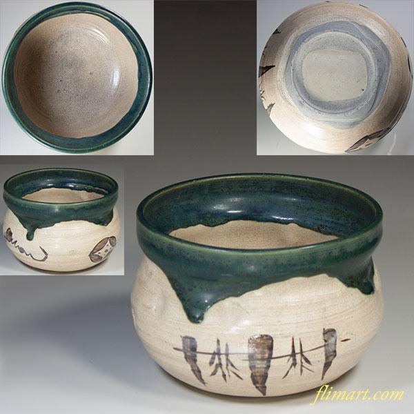 織部建水茶こぼしW3968