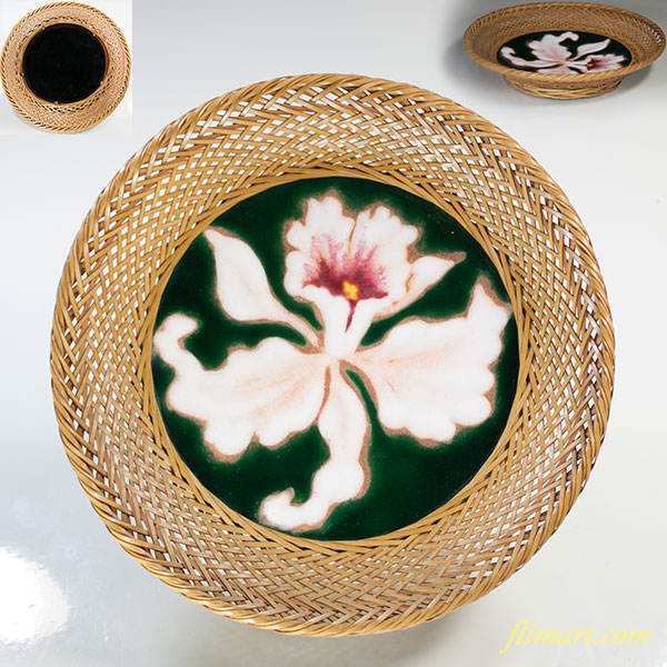 安藤七宝カトレア飾皿