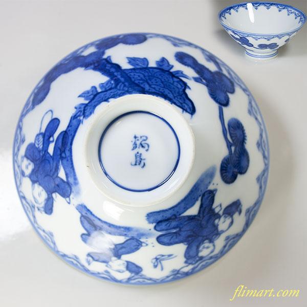 鍋島唐子飯茶碗