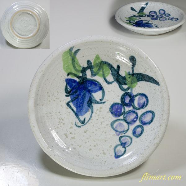 葡萄柄小皿W4015