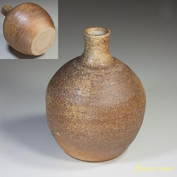 信楽花瓶W4077