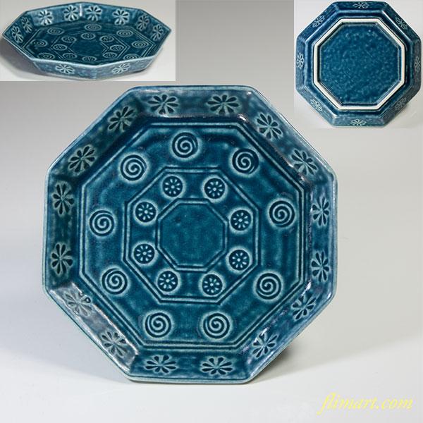 三島紋八角銘々皿