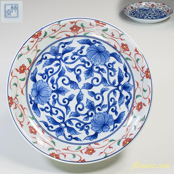 三洋陶器龍峰窯竹斎五寸半皿