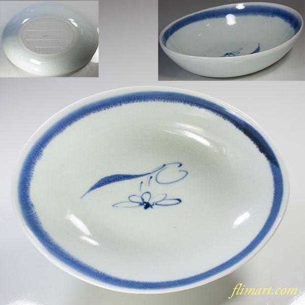 蔵珍ぞうほう安南手楕円鉢
