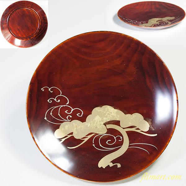 溜塗金彩銘々皿