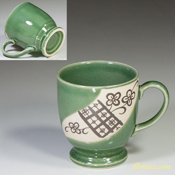 織部風マグカップ