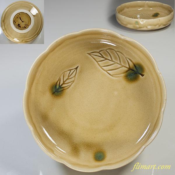 加藤釥黄瀬戸浅鉢