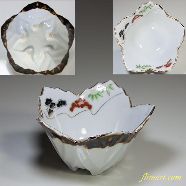 桔梗型松竹梅小鉢