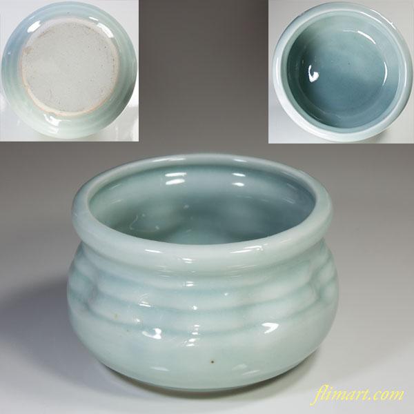 青白磁建水W4182