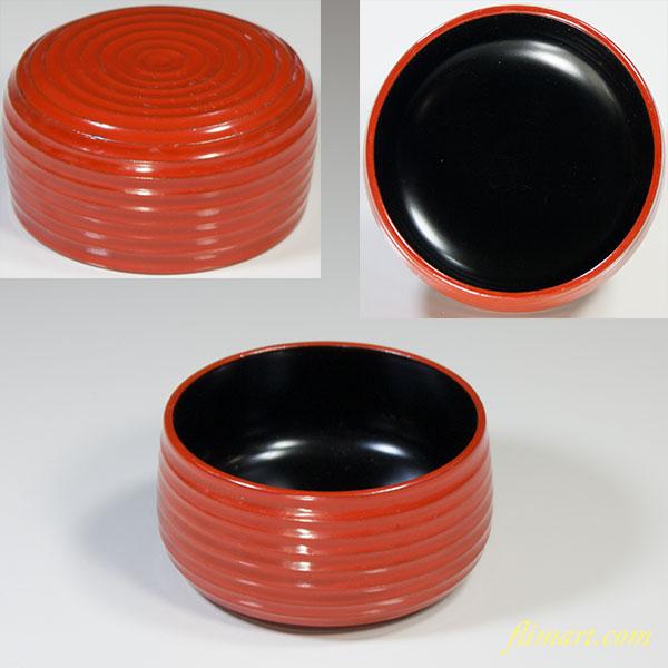 木製漆器朱塗小鉢