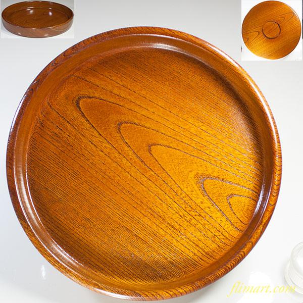 木製九寸丸盆W4222