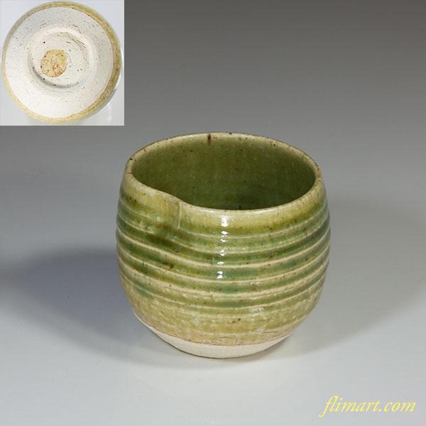 赤津焼織部湯呑W4359