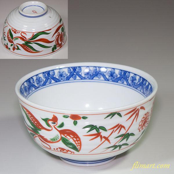 赤絵丼鉢W4321
