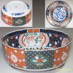 第一陶器錦花鳥更紗大鉢