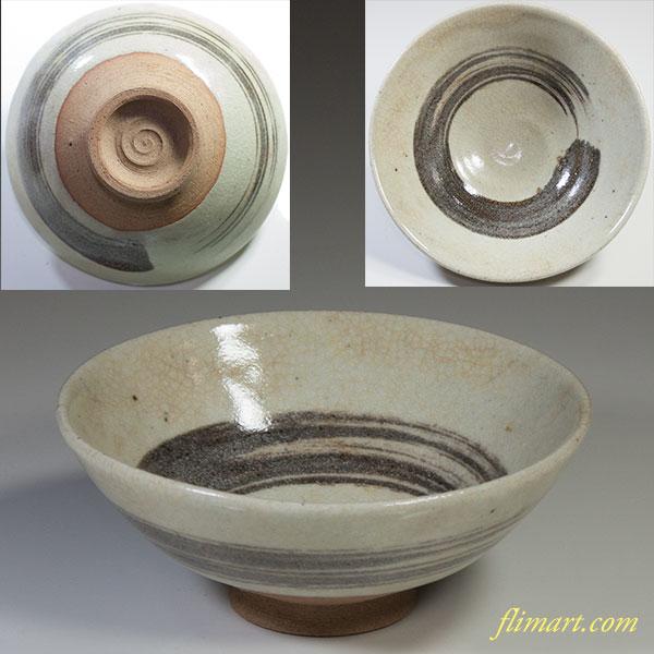 刷毛目抹茶碗W4320