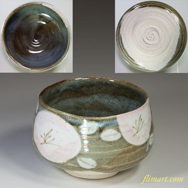 梅柄抹茶碗W4418