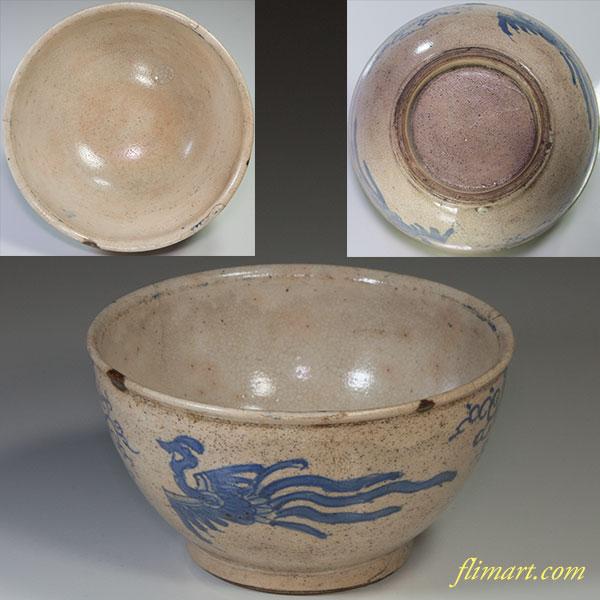 鳳凰文抹茶碗