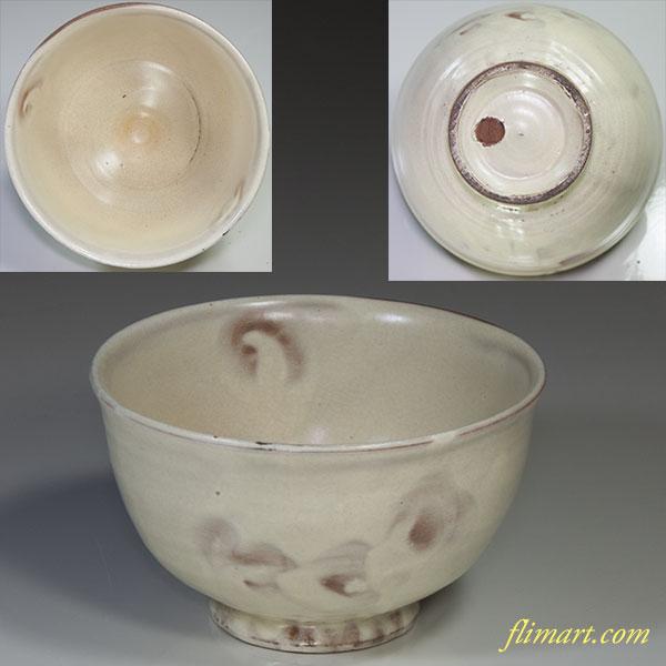白釉抹茶碗W4477