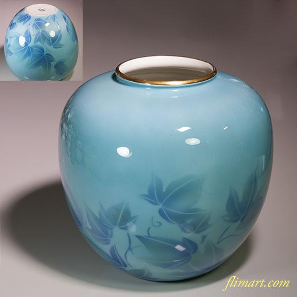 深川製磁色絵彩磁花瓶