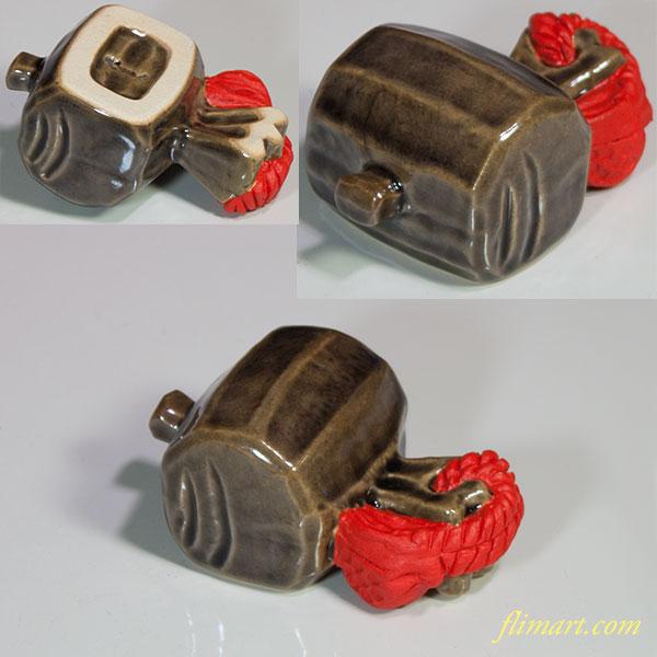 六兵衛窯打ち出の小槌置物