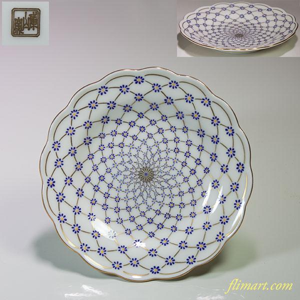 前畑陶器庫山窯小皿五枚セットW3706