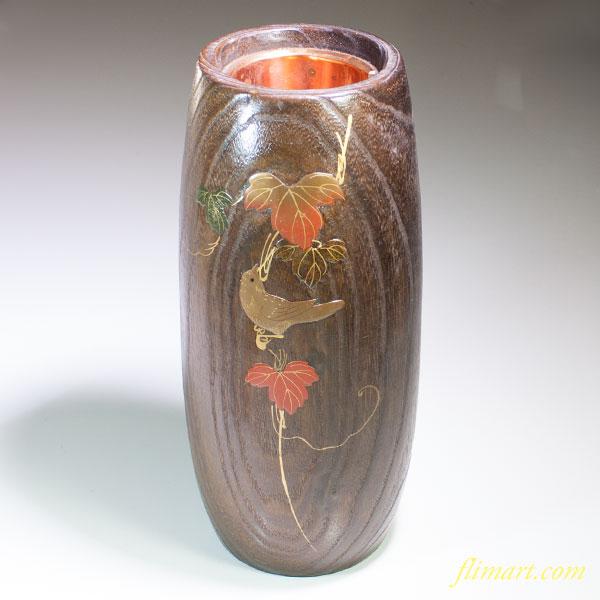 加賀桐工芸蒔絵花器