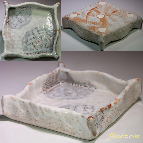志野角菓子鉢W4475